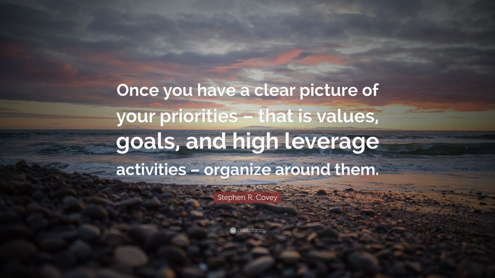 Stephen R Covey Quote Once You Have A Clear Picture Of