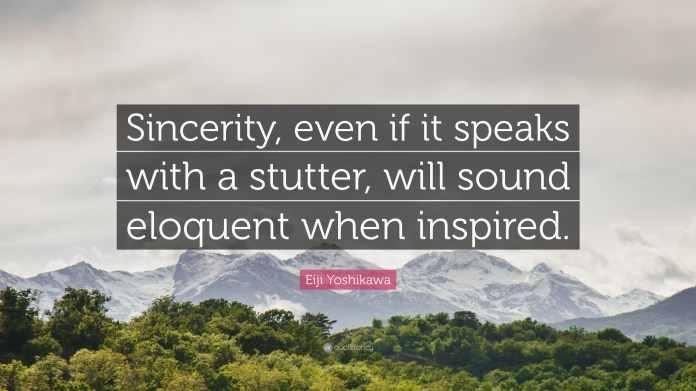 Image result for sincerity quotes