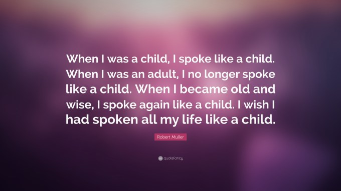 Image result for when i was a child i spoke as a child
