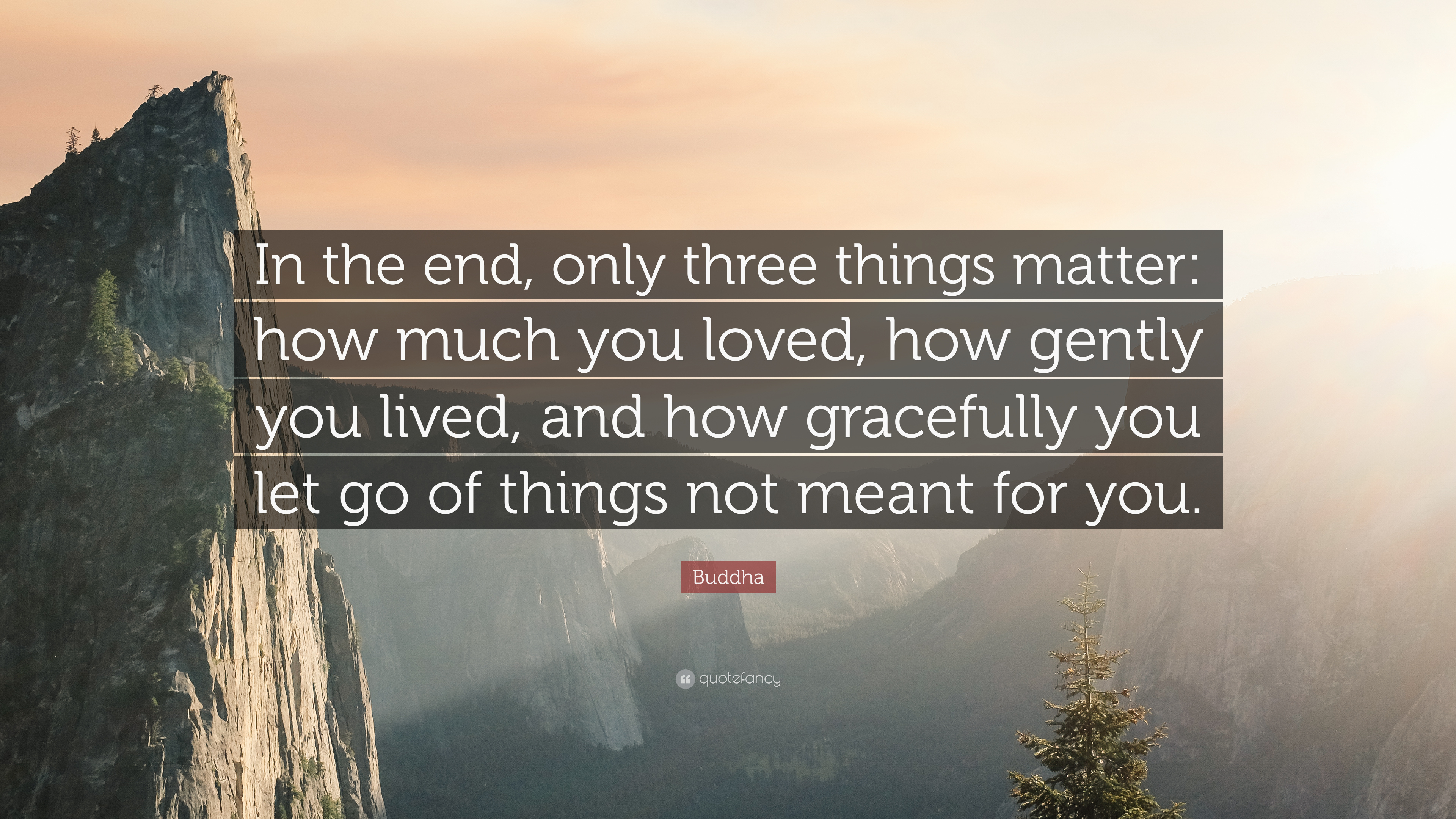 Buddha Quote In The End Only Three Things Matter How