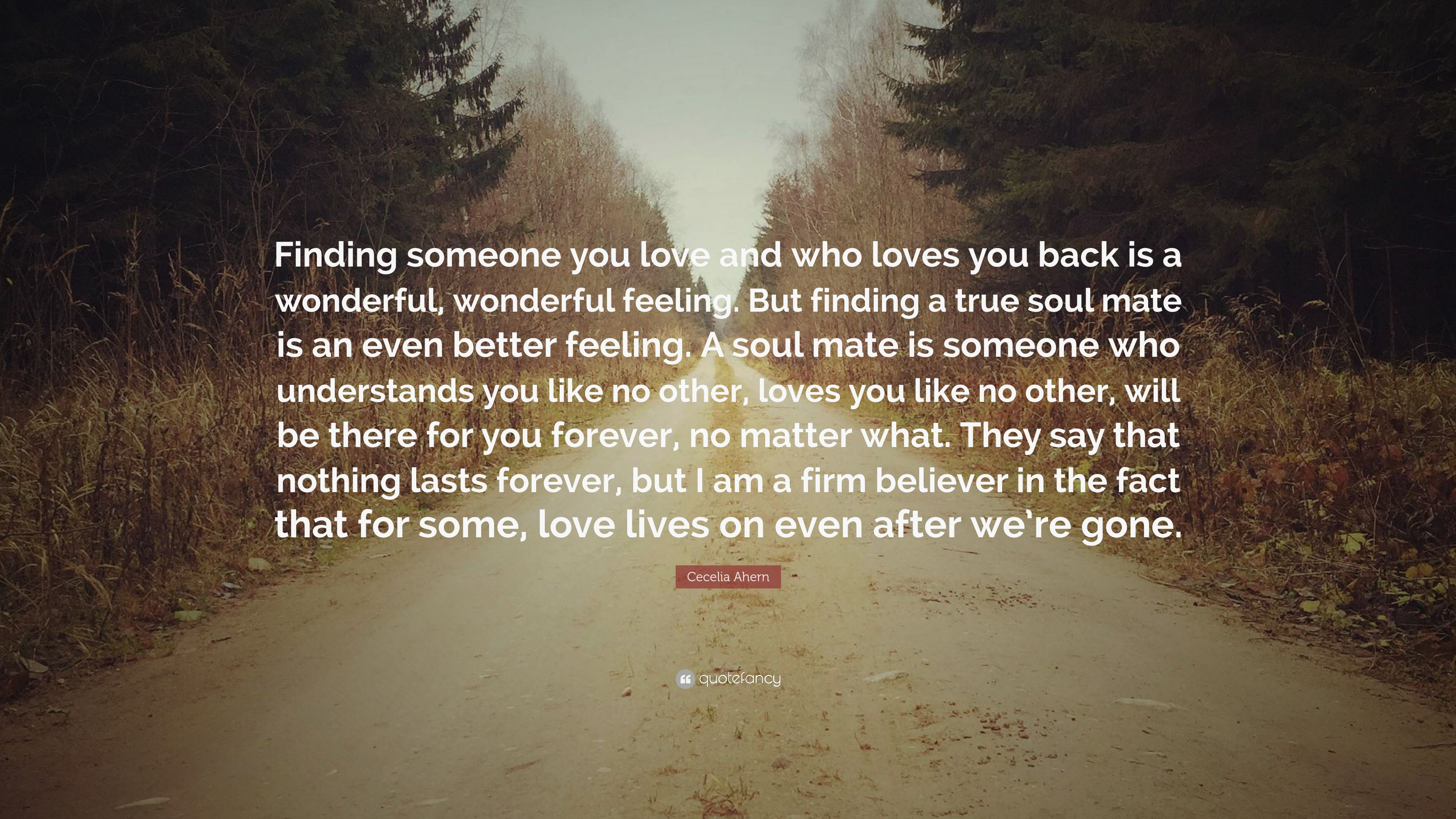 Cecelia Ahern Quote Finding Someone You Love And Who Loves You Back Is A Wonderful Wonderful