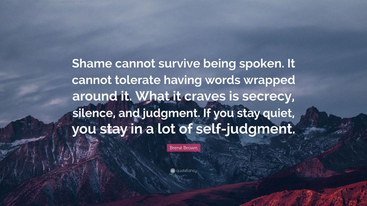 Image result for quote on shame brene brown