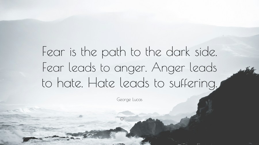 Depression Quotes  40 wallpapers    Quotefancy Depression Quotes     Fear is the path to the dark side  Fear leads to