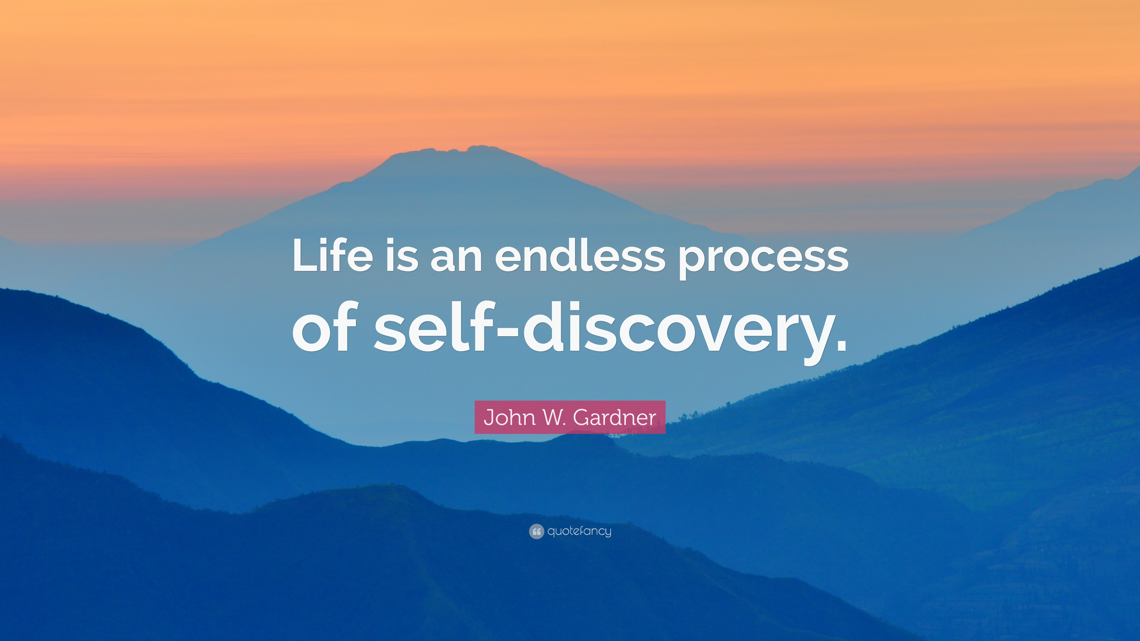 John W Gardner Quote Life Is An Endless Process Of Self