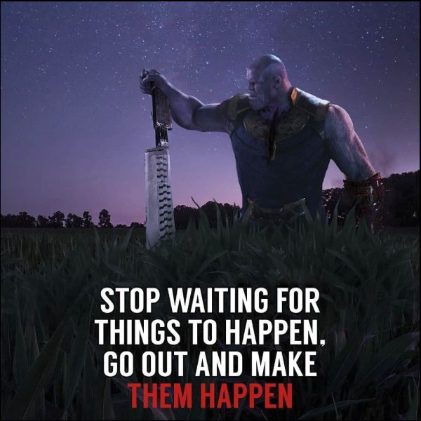 thanos quotes about reality