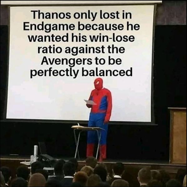 funny thanos quotes