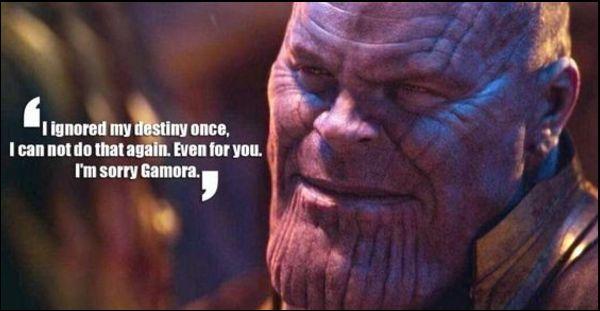 thanos quotes gamora