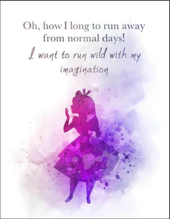 alice in wonderland quotes imagination