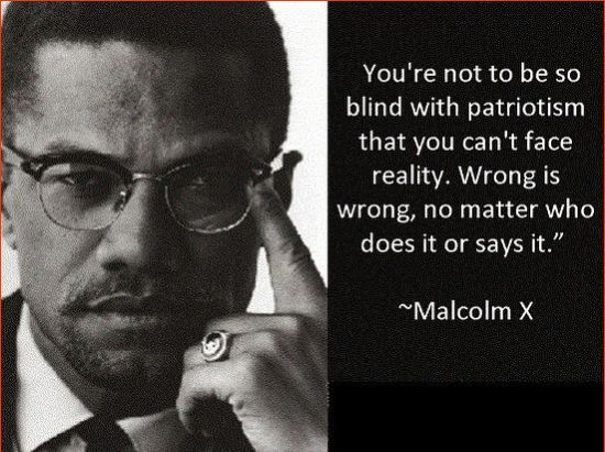 malcolm x violence quotes