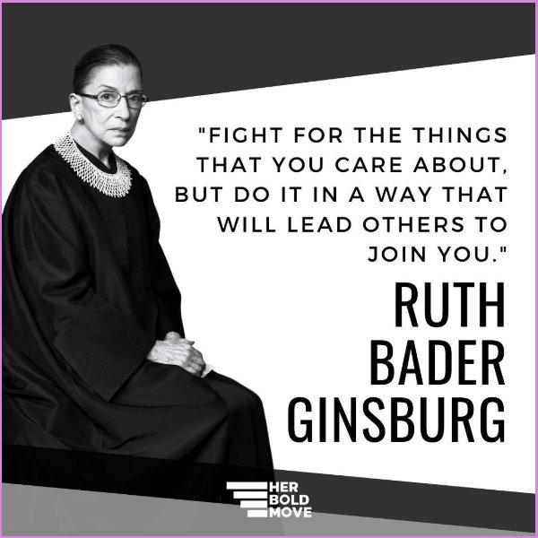 ruth bader ginsburg quotes fight for the things you care about