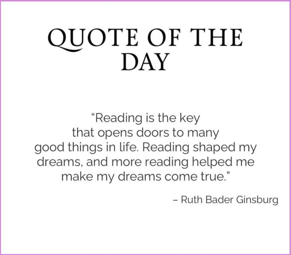ruth bader ginsburg quotes about reading