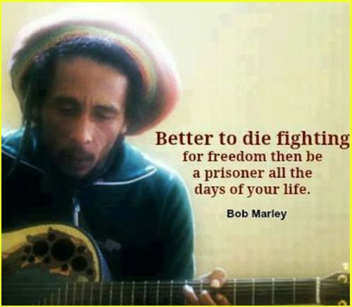 famous quotes by bob marley freedom