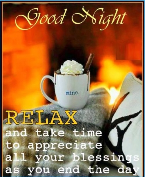 good night relax quotes