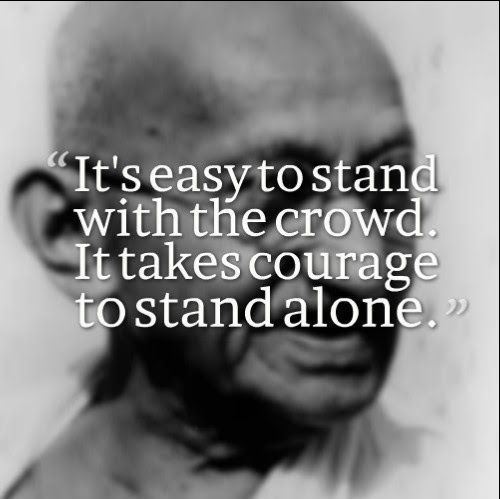 mahatma gandhi quotes courage