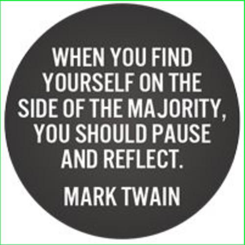 mark twain quotes majority