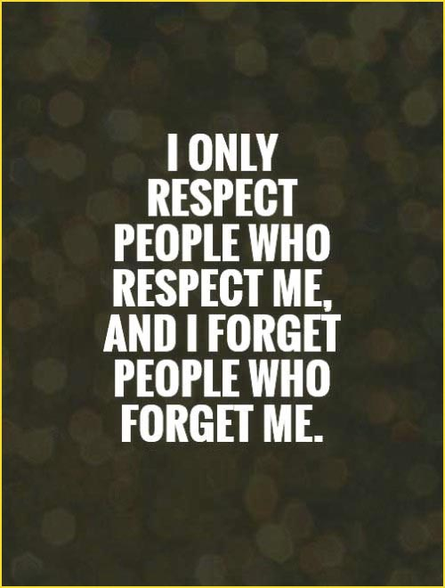 respect quotes by celebrities