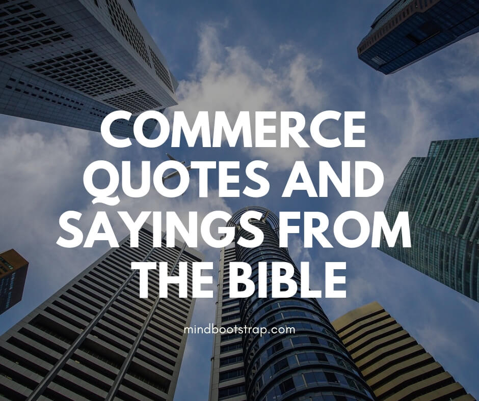 Commerce Quotes & Sayings from the Bible