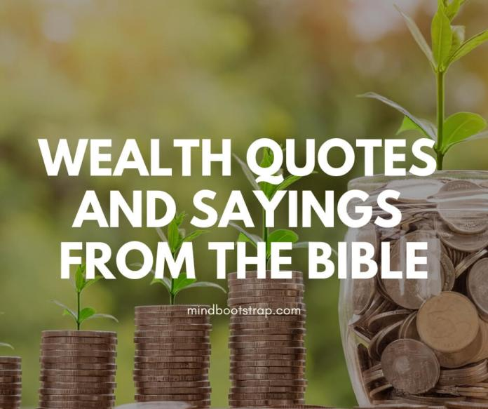 Wealth Quotes from the Bible