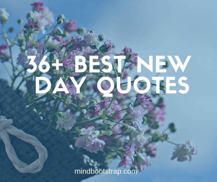Best new day quotes & sayings