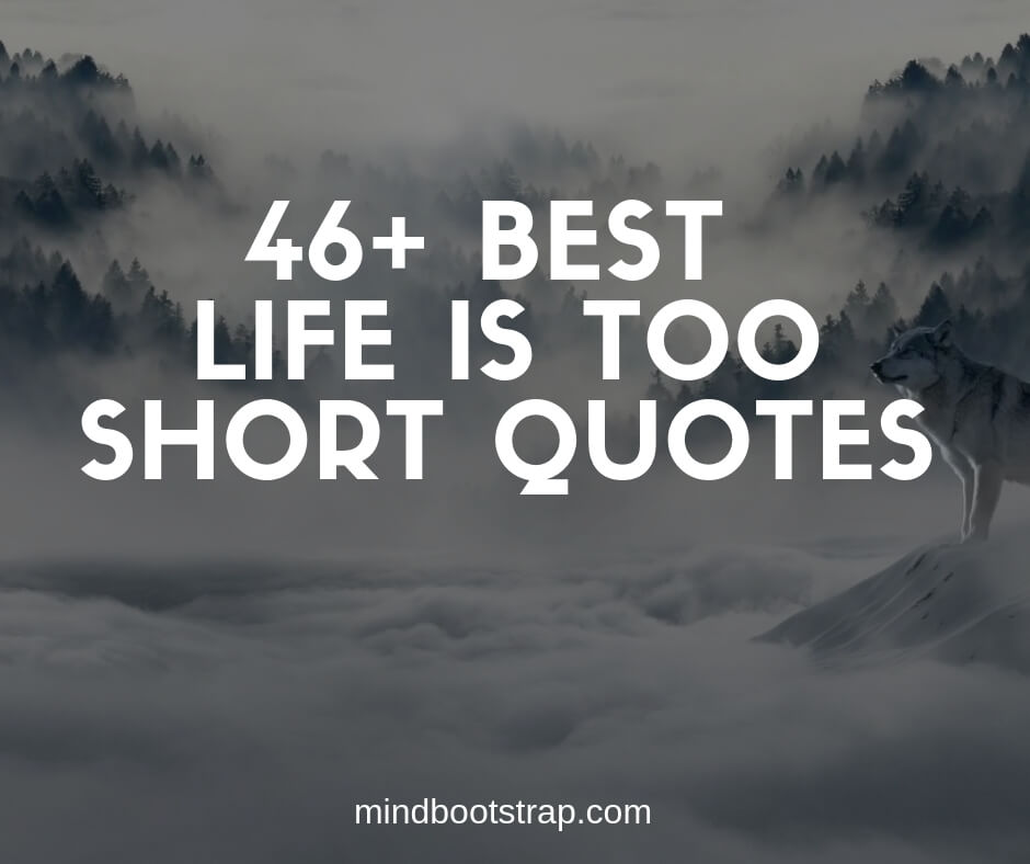 46 Best Life Is Too Short Quotes And Sayings Mindbootstrap