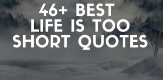 best life is too short quotes and sayings