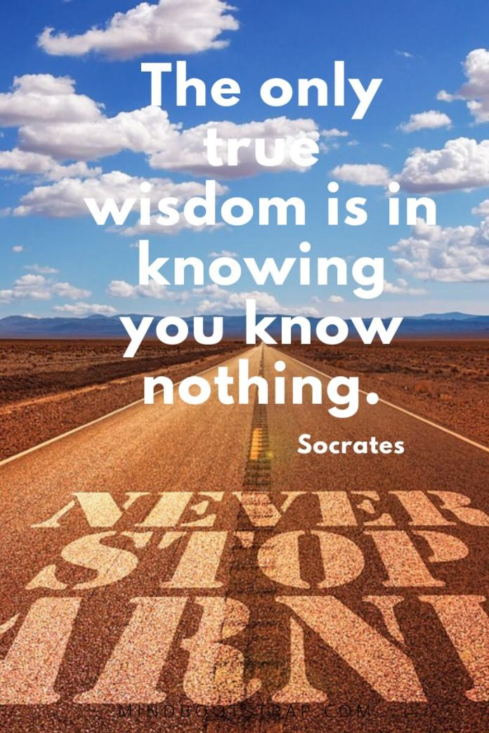 Knowledge quotes about wisdom - The only true wisdom is in knowing you know nothing. ~Socrates