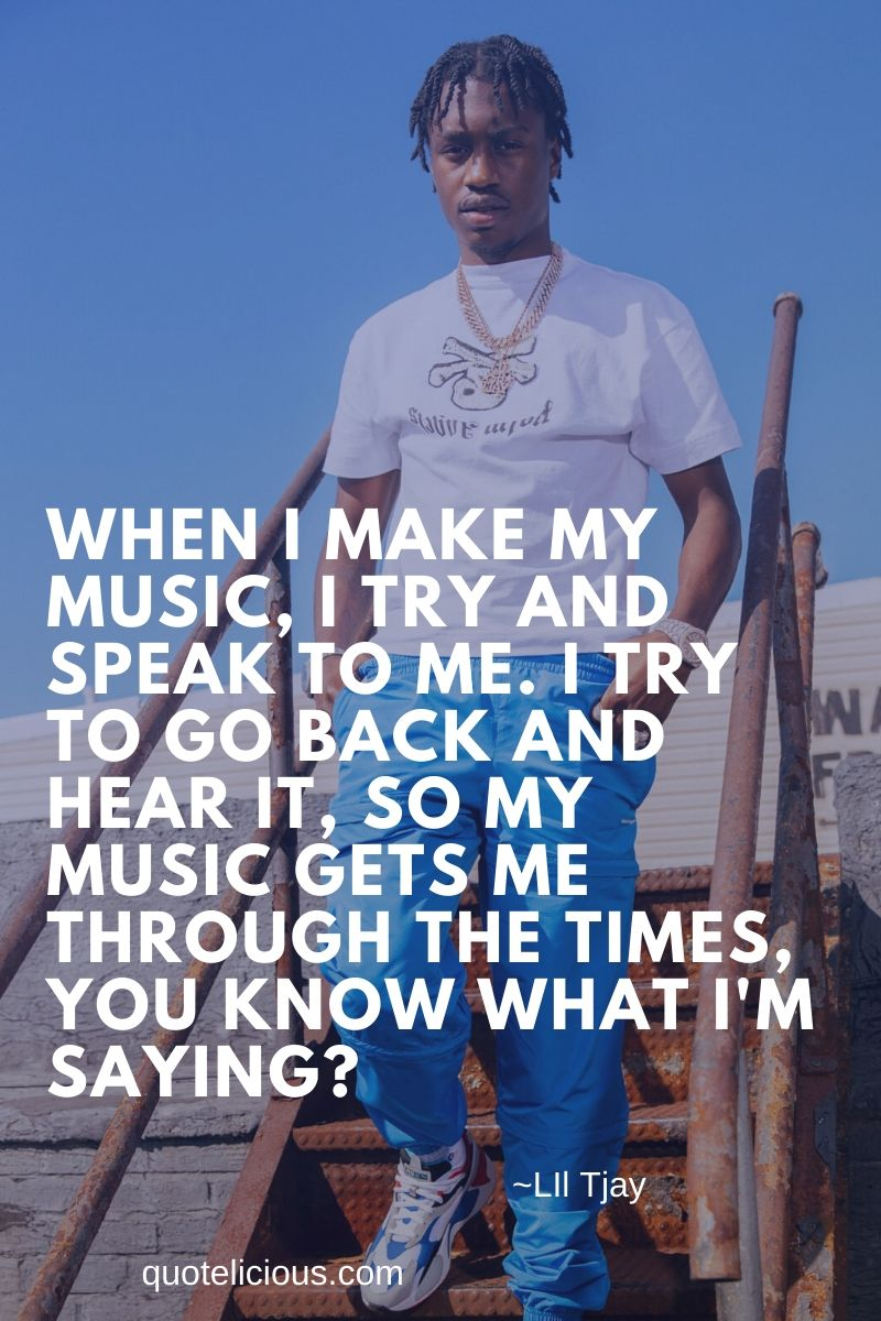 inspiring lil tjay quotes and sayings