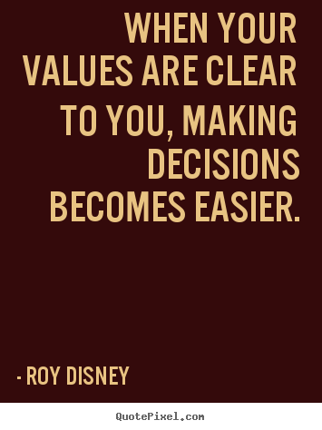 When Your Values Are Clear To You Making Decisions
