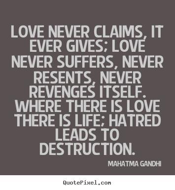 Slikovni rezultat za mahatma gandhi on love