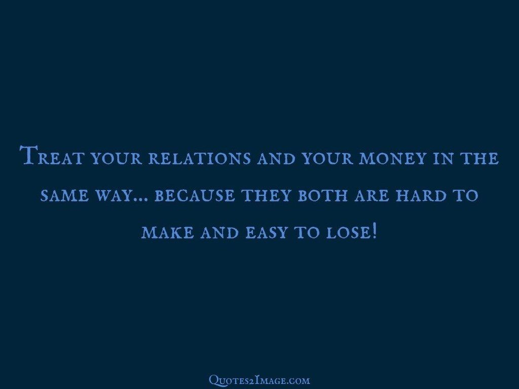 All human relations are money relations?