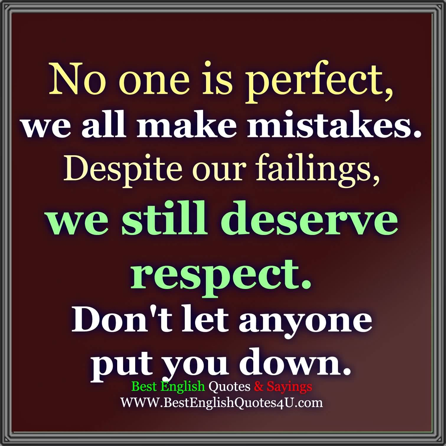 Best No One Is Perfect Quotes