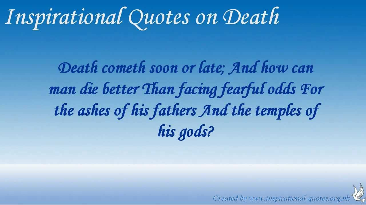 Quotes About Death Of A Loved One Famous Quotes About Death Of A Loved One 17  Quotesbae