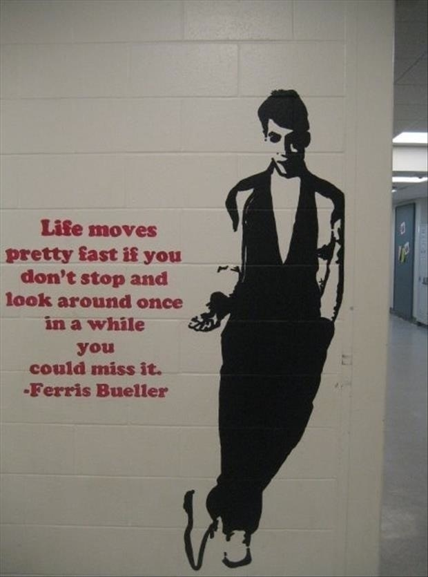 Ferris Bueller Life Moves Pretty Fast Quote Custom Ferris Bueller Life Moves Pretty Fast Quote 08  Quotesbae