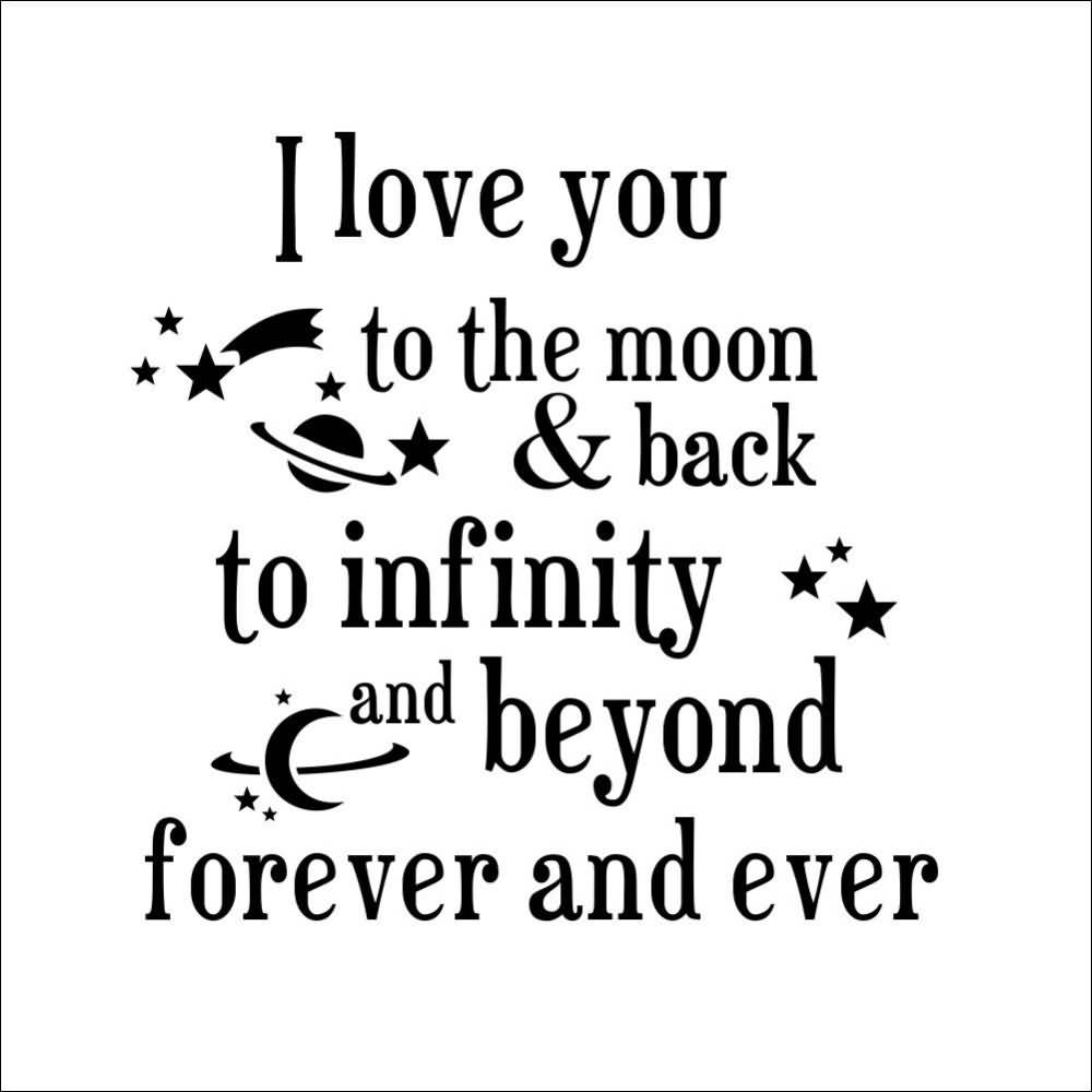 Infinity Love Quotes I Love You To The Moon Quotes 19  Quotesbae