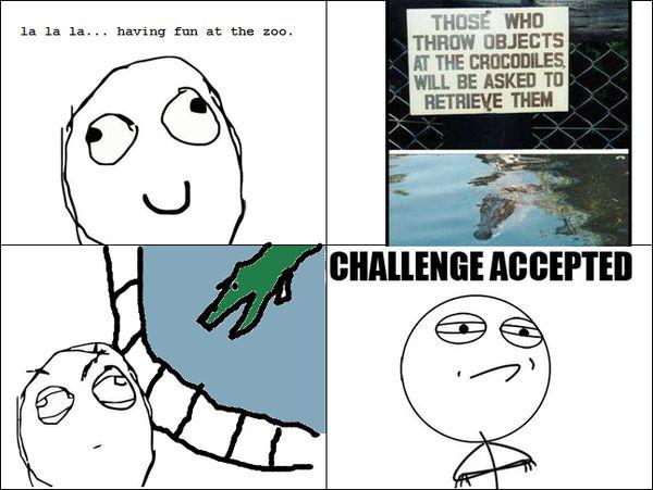 Funny Challenge Accepted Comics Joke