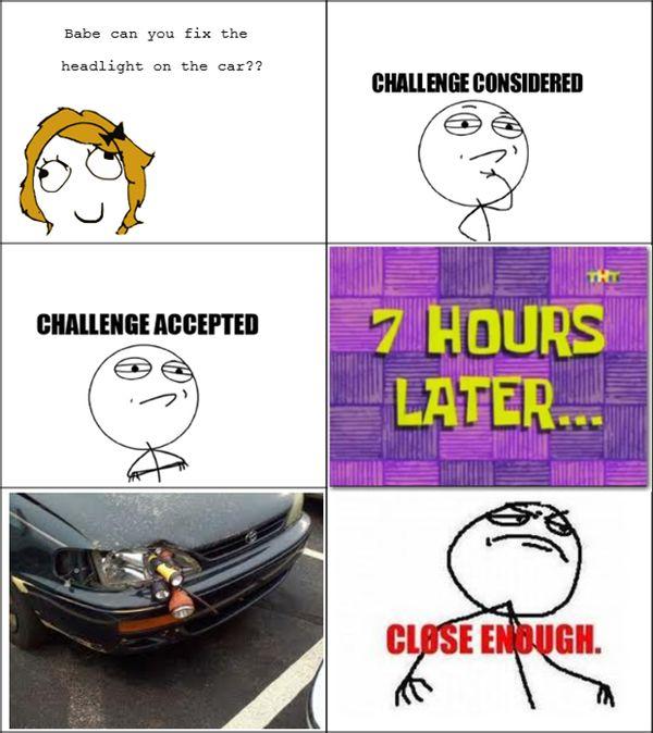 Funny Challenge Considered Meme Joke