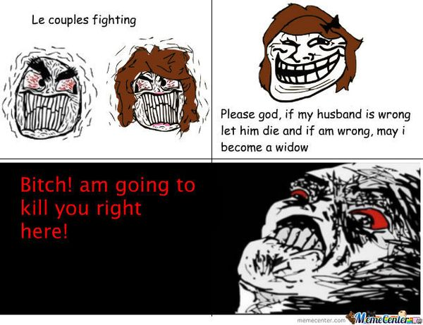 Funny Couple Fighting Meme Picture