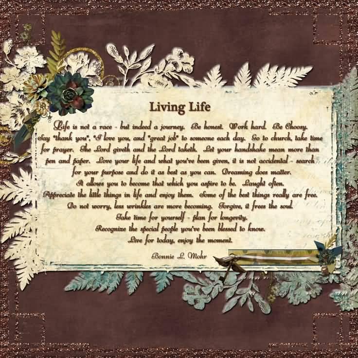 Bonnie Mohr Living Life Quote Amazing 20 Living Life Bonnie Mohr Quote Images & Pics  Quotesbae