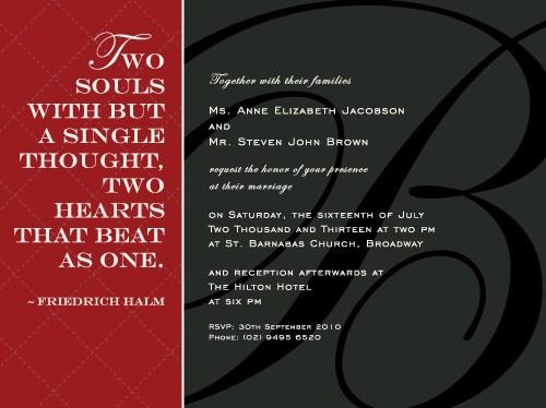 Love Quotes Wedding Invitation 01