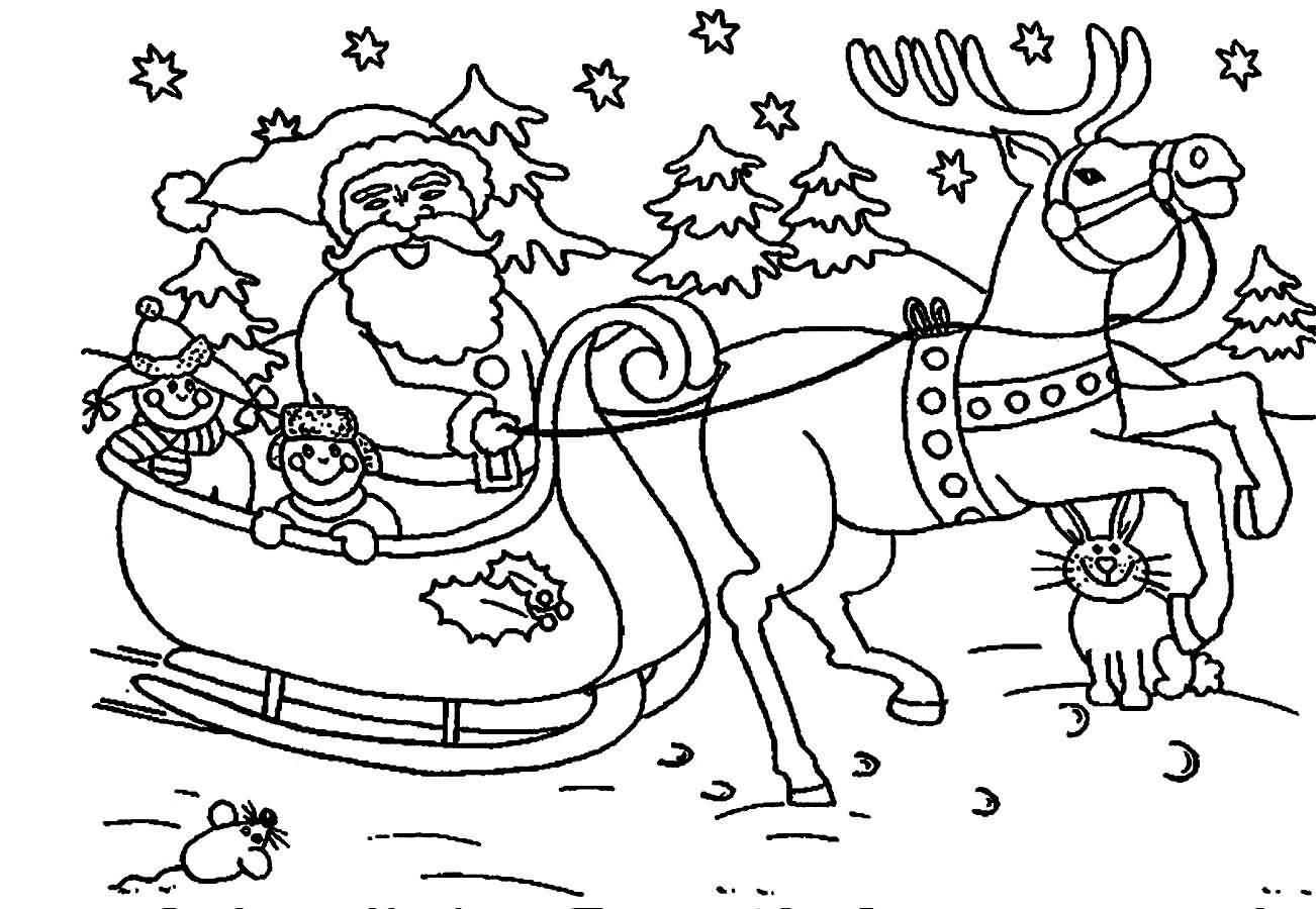 20 Amazing Santa Claus Coloring Pages For Print
