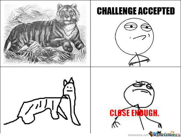 Very Funny Challenge Accepted Meme Photos