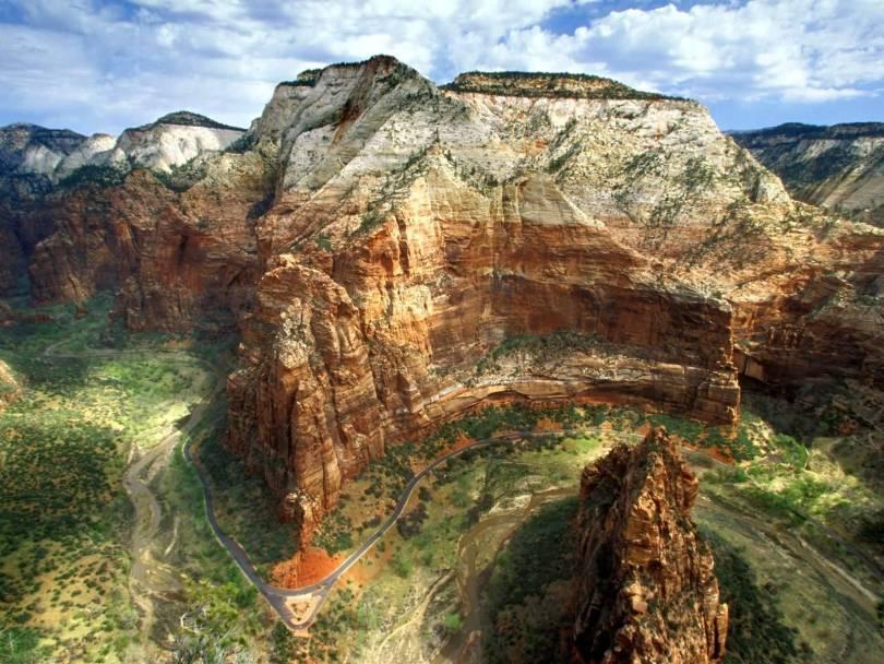 Angels Landing, Zion National Park, Utah HD Wallpaper