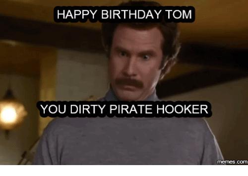 Happy Birthday Tom Meme Funny Image Photo Joke 02