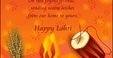 Happy Lohri Greetings Card Design Img