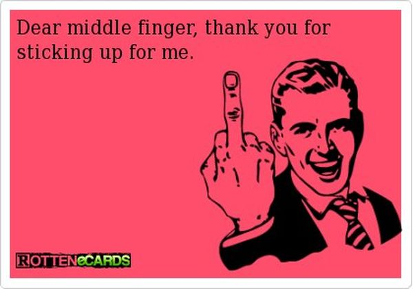 Very funny middle finger jokes image