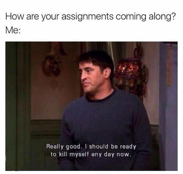 College Life Meme Funny Image Photo Joke 07
