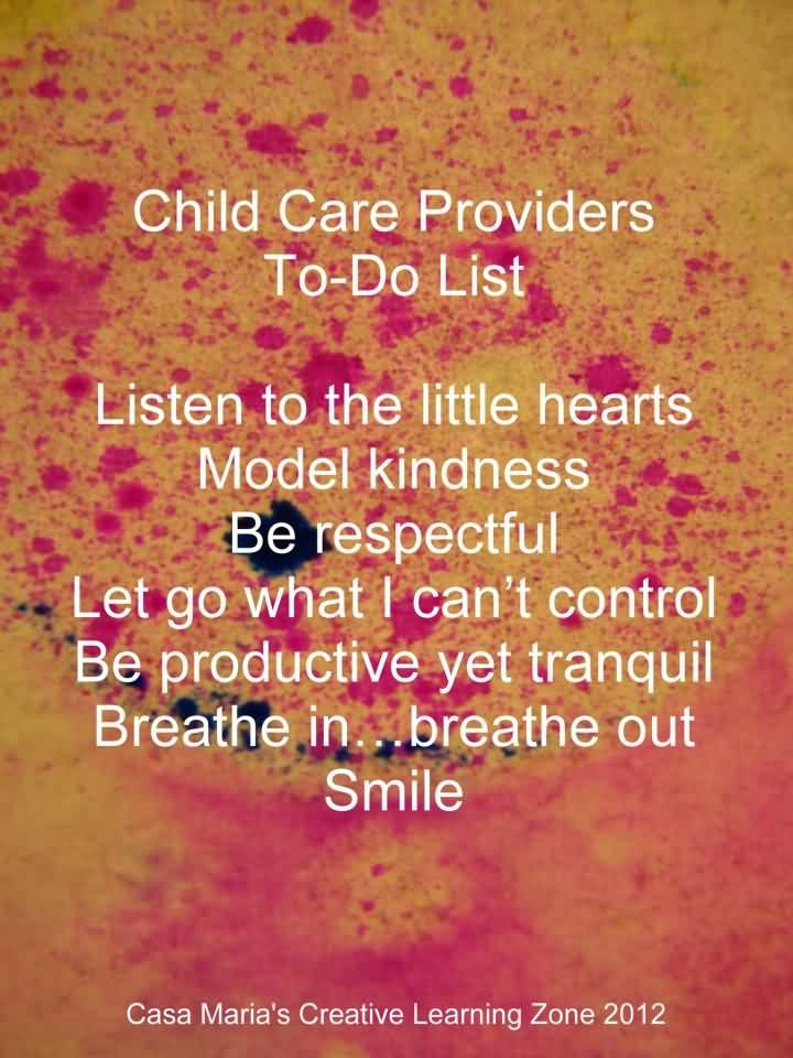 Child Care Quotes Pleasing 25 Inspirational Quotes For Child Care Providers Images  Quotesbae