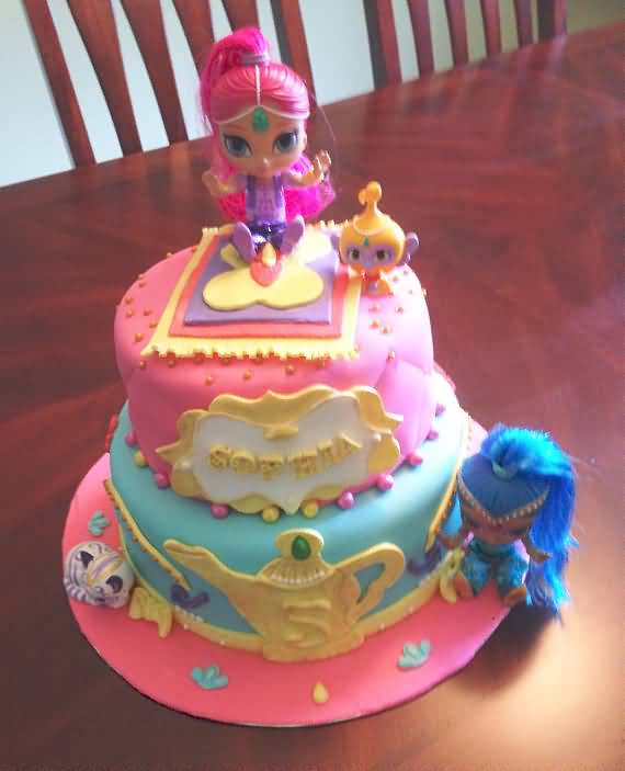 21 Best Shimmer And Shine Birthday Cake Ideas Quotesbae