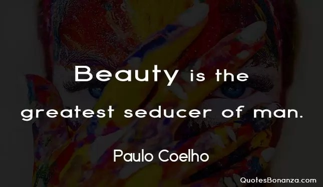 beauty quote by paulo coelho