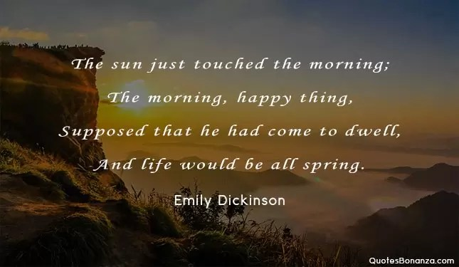 good morning quote with dawn backdrop